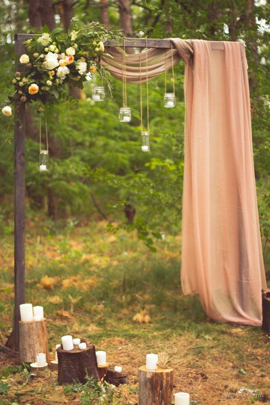 20 easy diy floral wedding arch decorations sweet and simple arch junglespirit Images