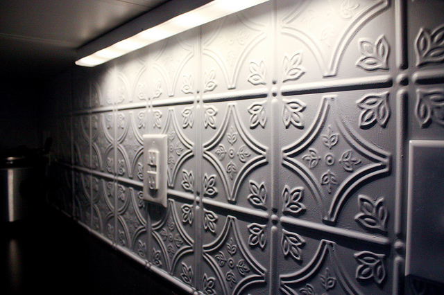 Does Your Kitchen Need Something New Install A Tin Backsplash