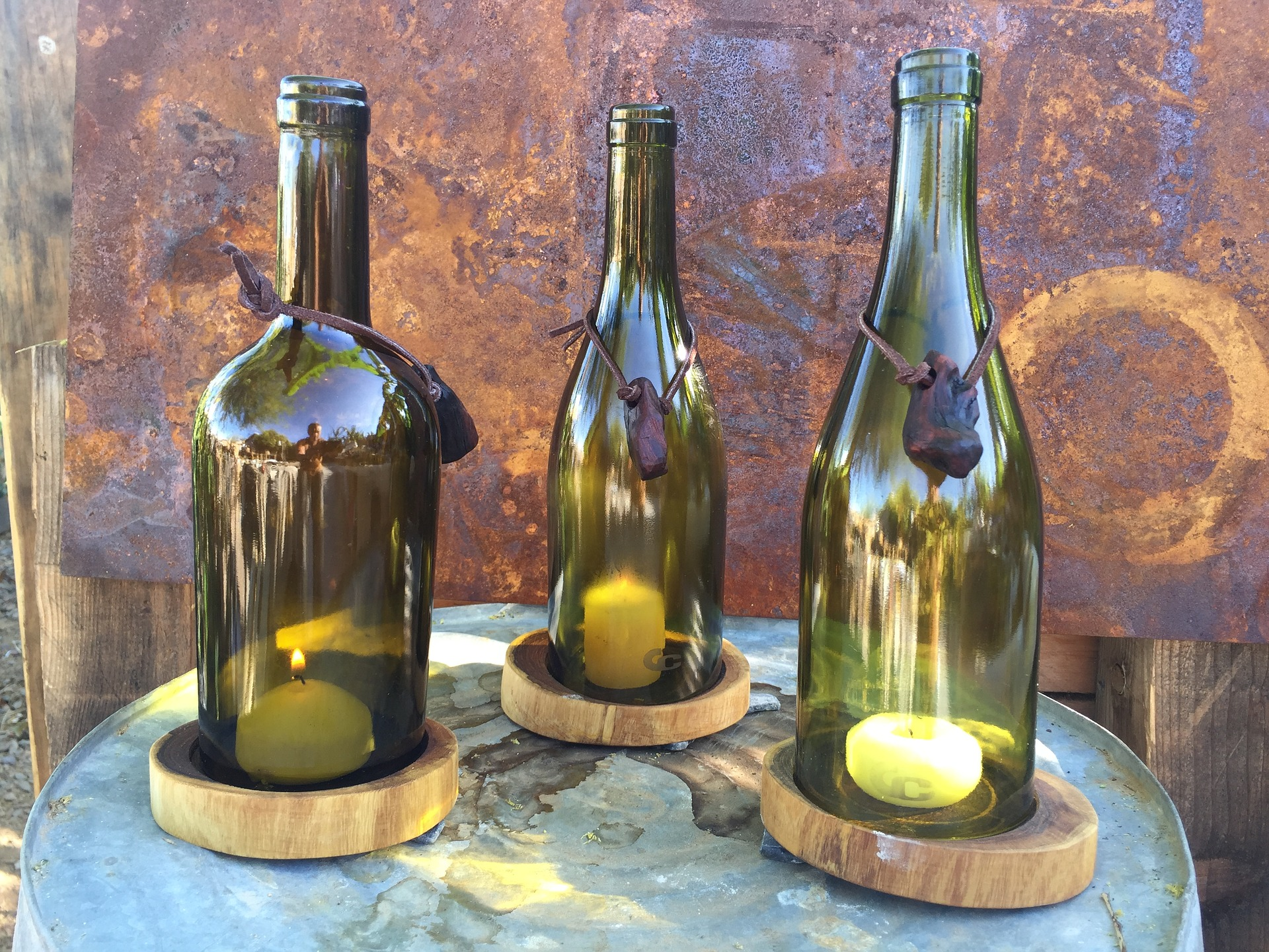 do it yourself crafts repurposed wine bottles