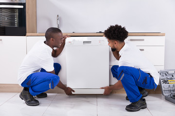 know how to install a dishwasher by moving it