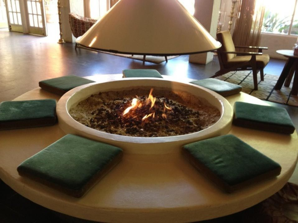 fire pit inside in a good style