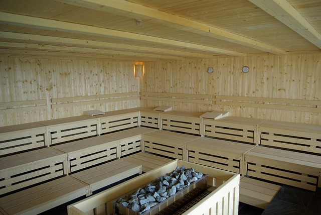 huge room of sauna