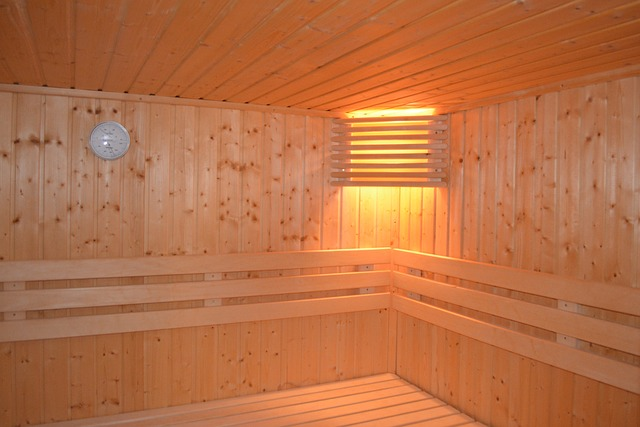 empty sauna room